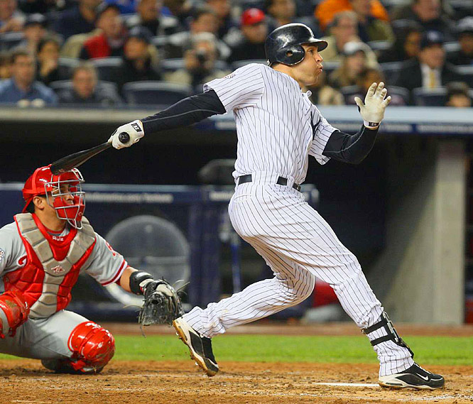 Mark Texeira's homer in the fourth tied the game at 1-1.