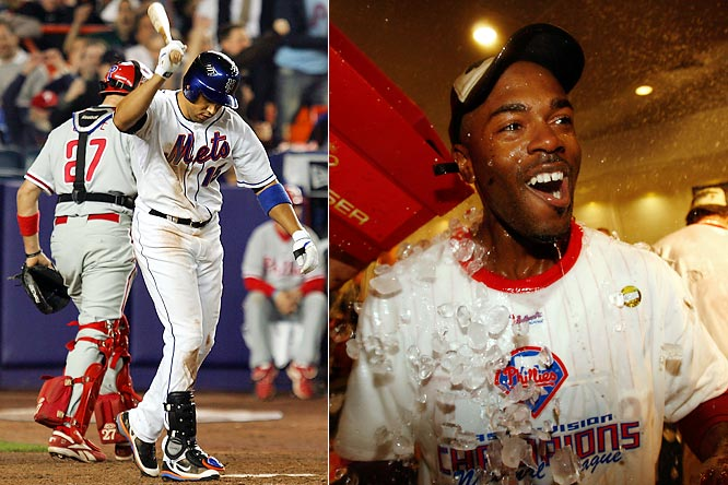 "The Mets weren't going to take their 2007 loss to the Phillies lying down.  In February 2008, Carlos Beltran walked into Mets camp and declared, ""To Jimmy Rollins: We are the team to beat.""  In the division game later that year, the Phillies came from behind to win, and ultimately became World Series Champions."