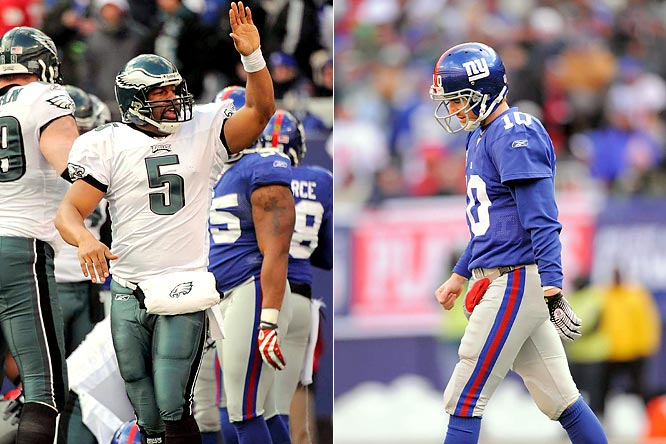 In January 2009, the Eagles crushed the Giants dreams for a Super Bowl repeat by defeating the Eli Manning-led Giants 23-11 at the Meadowlands.