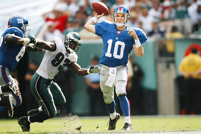 In a Week 2 meeting of the Giants and Eagles in 2006, the Giants came back from a 17-point deficit in the fourth quarter to defeat the Eagles 30-24 in overtime.