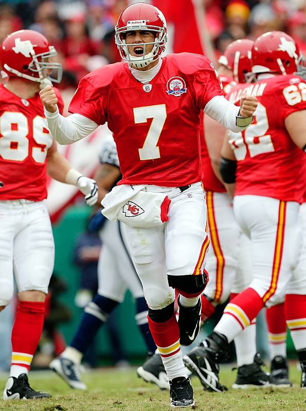 The Kansas City Chiefs wore their original Dallas Texans uniforms Oct. 11 against the Cowboys and will wear them again Oct. 25 against the Chargers and Nov. 15 against the Raiders.