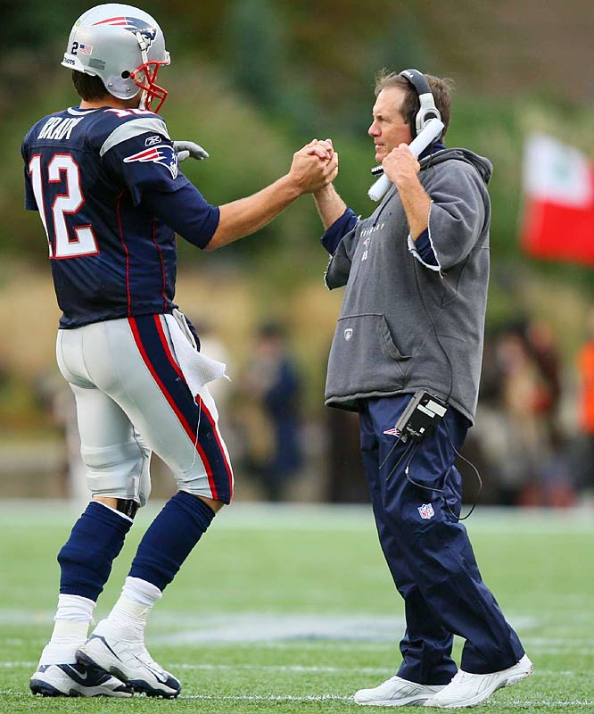 Brady and coach Bill Belichick have won three Super Bowls together.