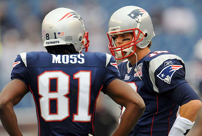 Brady and Moss combined for an NFL-record 23 touchdown passes in 2007. They didn't get their first one of the 2009 season until the Week 4 win over Baltimore.