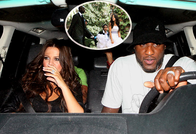 Pictures from Odom's and Kardashian's wedding were finally released in <i>OK!</i> magazine this week after a six-figure payday, and footage of the wedding will air on E! next month. You'd think Odom's recently signed four-year $33 million deal would prevent him from selling himself out to exclamation-pointed entities for six-figure deals.