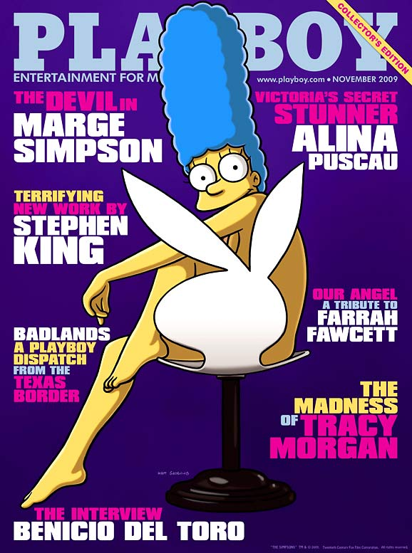 <i>The Simpsons</i> and <i>Playboy</i> might be two of the most famous entities in American pop culture, but I'm not exactly sure they should be mixed. I understand that certain people are into, ahem, certain things, but a scantily clad Marge Simpson on the cover of <i>Playboy</i>? I can only hope they drew the line at a full-fledged centerfold.