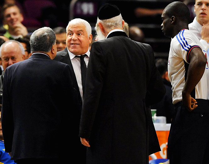 Stop us if you've heard this one before. A rabbi, a coach and referee walk on to a basketball court ... Well, in quite possibly the greatest preseason story ever, Maccabi Tel Aviv coach Gershon refused to leave the court after being ejected during a game against the Knicks. A rabbi then tried to intervene and persuade the referee to let Gershon stay. He wasn't, although it would have been great if the rabbi had taken over Gershon's position and coached the rest of the game. It would have made complete sense under the circumstances.
