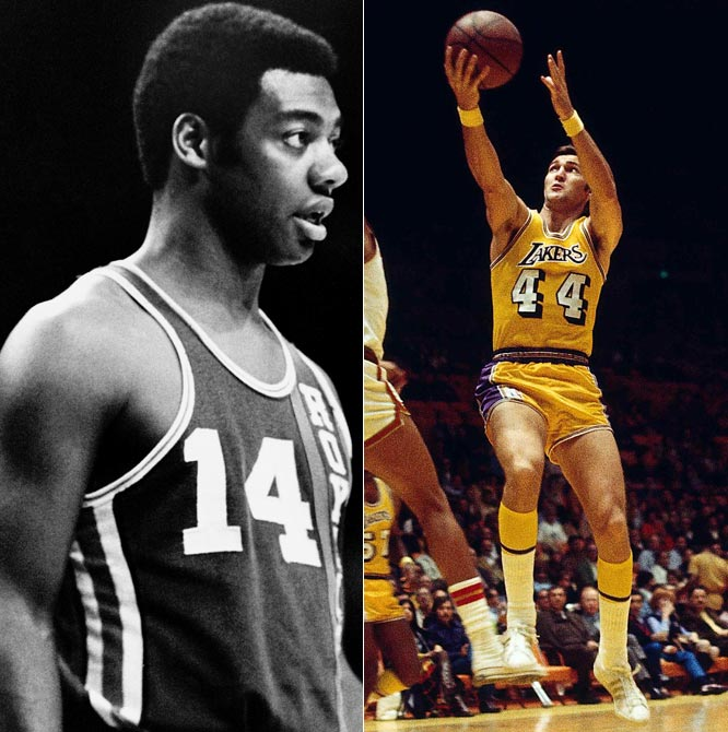 Oscar Robertson and Jerry West make their debuts on opposing teams. The Cincinnati Royals beat the Los Angeles Lakers 140-123, as the Lakers opened their inaugural season in Los Angeles.