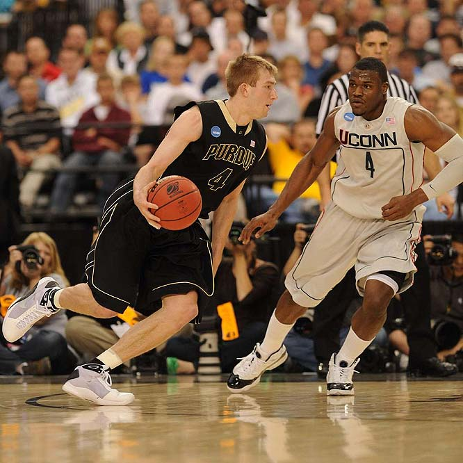 Robbie Hummel (pictured), JaJuan Johnson, Sandi Marcius, Patrick Bade<br><br>If Hummel is fully recovered from the back problems that plagued him in '09-10, he can be an All-America candidate, and if Johnson continues on his upward trajectory from '08-09 (when he averaged 13.4 points and 5.6 boards), Purdue can be a Final Four team. The only knock on this frontcourt crew is that it's not deep -- the first forwards off the bench are unheralded freshmen Marcius and Bade.