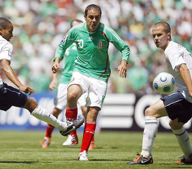 It's very simple. Without Blanco, Mexico was 1-2 in the final round of CONCACAF qualifying under Sven-Göran Eriksson and in danger of missing its first World Cup in 20 years. Since the Swede was replaced by old manager Javier Aguirre -- who immediately lured his old workhorse out of international retirement -- El Tri is 4-1, has regained its swagger of old and is back on track. It was Blanco's guile, in large part, that helped Mexico beat the U.S. 2-1 in Mexico City in August, and he hasn't stopped there. The Chicago Fire icon may be 36 and slower than a burro, but the gamesmanship, skill on the ball and experience he has brought back to the team is a big, big reason why Mexico can clinch a berth in South Africa after many had written it off.