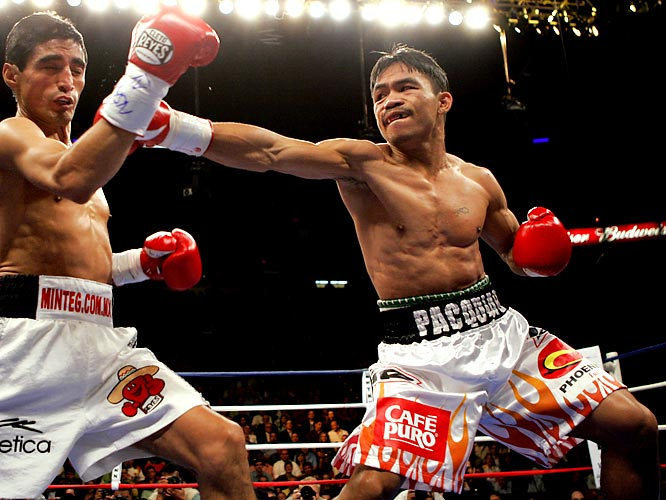 The third match was to settle the score -- Morales had taken the first one by decision and Pacquiao the second by knockout. In this one, Pacquiao clearly had the upper hand, knocking out Morales in the third round.