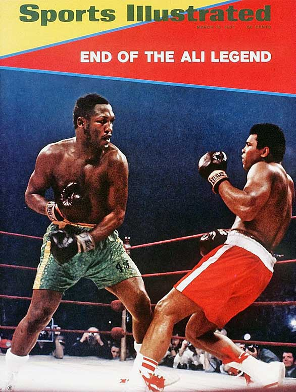 "Known simply as ""The Fight,"" Ali-Frazier I pitted the two undefeated heavyweight champions in Madison Square Garden with seemingly the whole world watching and taking sides. Though he received tremendous punishment, the relentless Frazier outworked Ali and dropped him in the 15th round to win by unanimous decision."