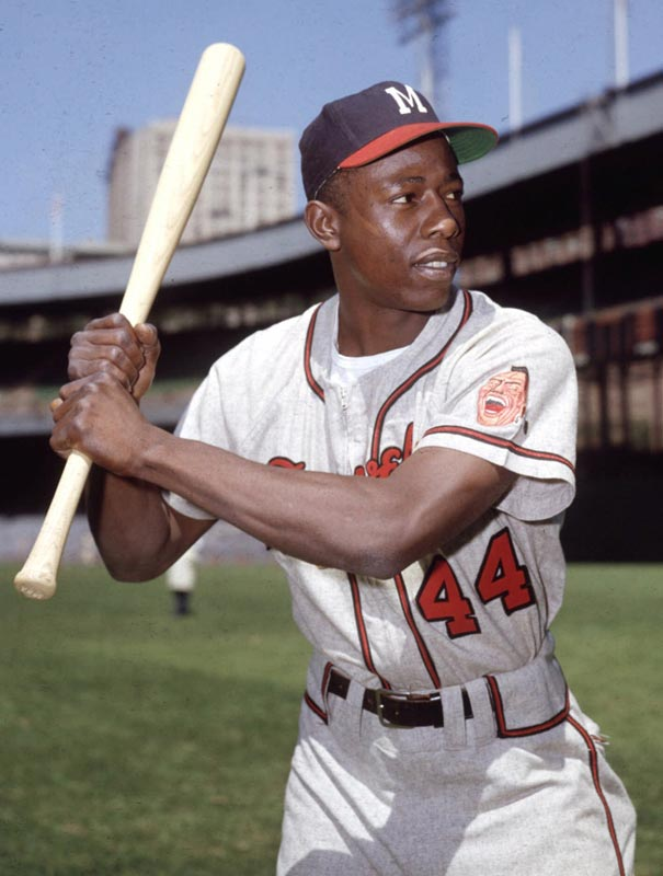 The Braves trade Hank Aaron to the Brewers for Dave May and Roger Alexander. The move allows the all-time career home run champ to finish his career in Milwaukee, the city in which he started in the majors.