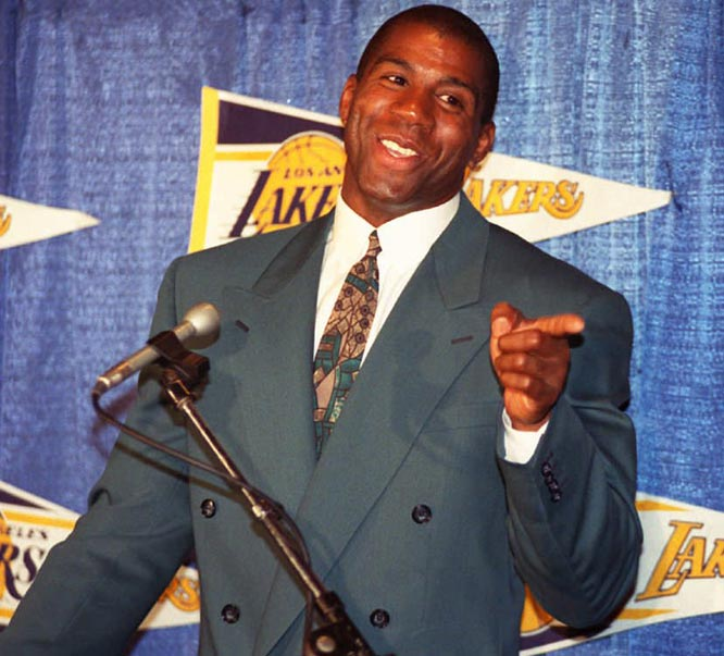 Magic Johnson retires from the NBA again, this time for good because of fear due to his HIV infection.