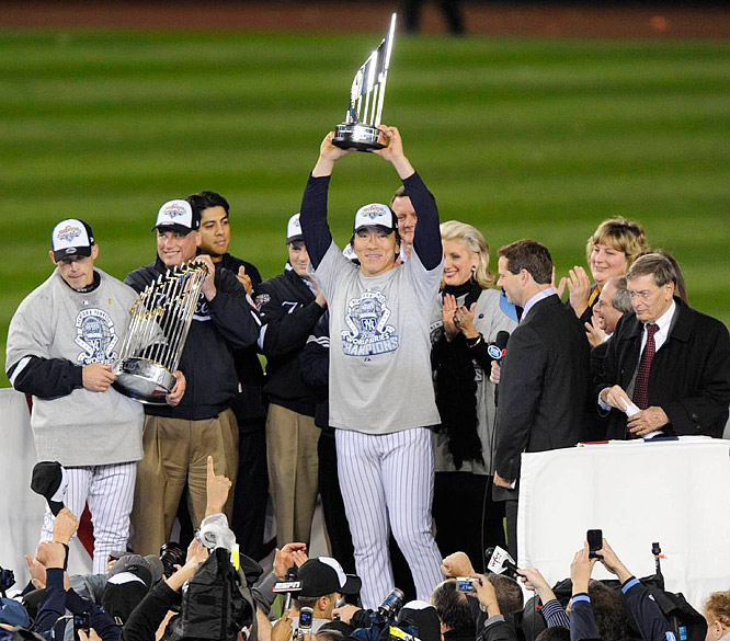 Matsui became the first full time designated hitter to win the World Series MVP.