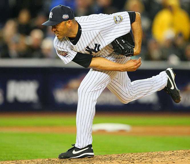 The Yankees turned to Mariano Rivera to get the final five outs and he slammed the door.