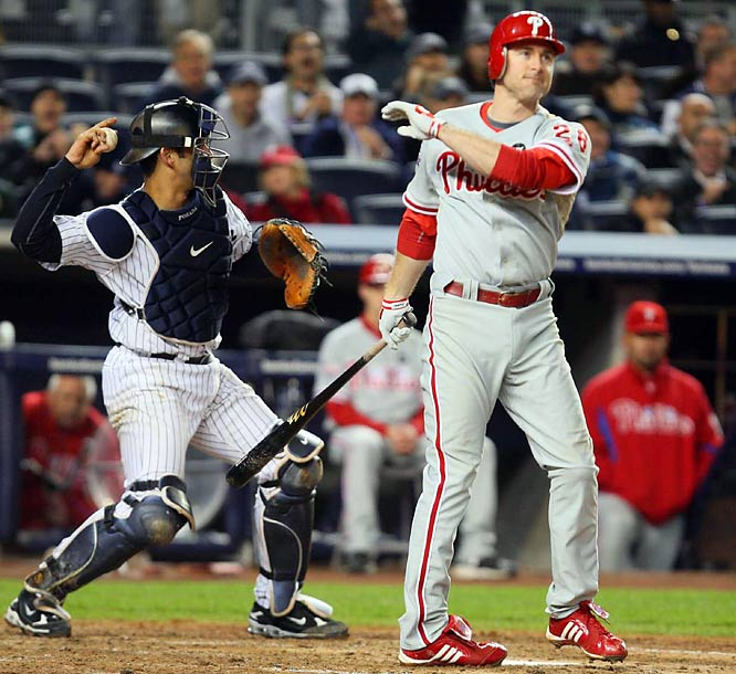 Chase Utley was one of only three Phillies to strike out against Andy Pettitte over his 5 2/3 innings of work.