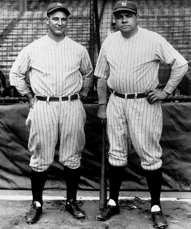 Gehrig and Ruth powered the Yankees to their sixth pennant in eight seasons before becoming the first team to sweep successive World Series. Ruth hit a ridiculous .625 in their four game sweep against St. Louis.