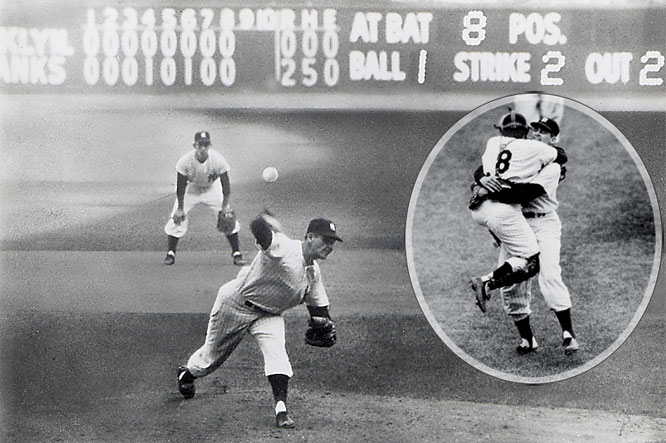 Billy Martin's brash pronouncement about the Dodgers proved false in 1955, but the Yankees got revenge the following year in a seven-game thriller. The highlight, of course, was Don Larsen's perfect game in Game 5 -- still the only perfecto in World Series history.