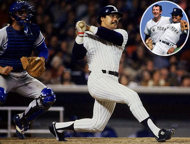 After a drought of 15 years, the Yankees were World Series Champions once again, thanks to the heroics of Mr. October. Slugger Reggie Jackson made his legend in series-ending Game 6 by belting three home runs, each on the first pitch he saw, against the Los Angeles Dodgers and setting a World Series record of five total homers that was tied in 2009 by Philadelphia's Chase Utley. Billy Martin won what would be his only World Series title as a manager