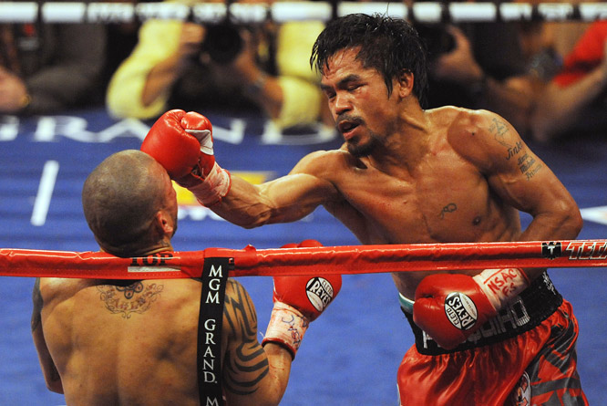 "Said Cotto: ""I didn't know from where the punches were coming."""