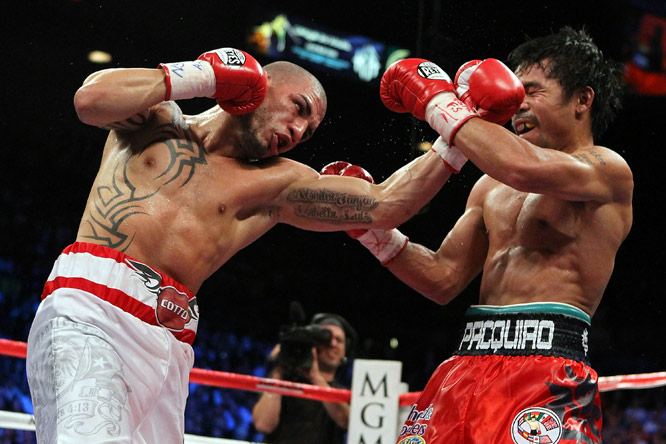 Cotto (34-2, 27 KOs) came out strong but quickly wilted under the pressure of Pacquiao, who won via 12th round technical knockout.