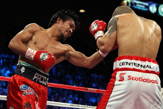 Pacquiao entered the bout after earning spectacular wins over Oscar De La Hoya and Ricky Hatton.