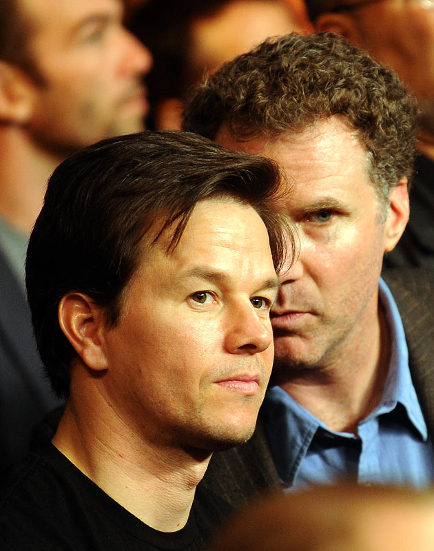 Mark Wahlberg, who underwent extensive boxing training for his role in an upcoming movie, and comedian Will Ferrell were in attendance.