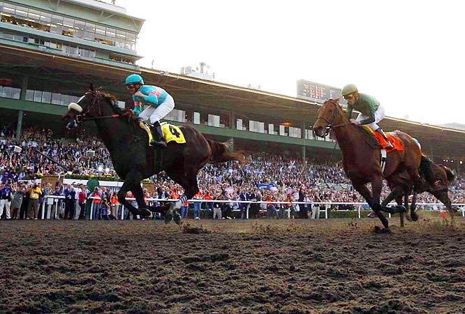 Even novice horse racing fans had chills watching Zenyatta somehow fly from the back of the pack to the front to win the Breeders' Cup Classic in dramatic fashion. Equally impressive was the call by Trevor Denman, who helped make it an immortal moment for the struggling sport.