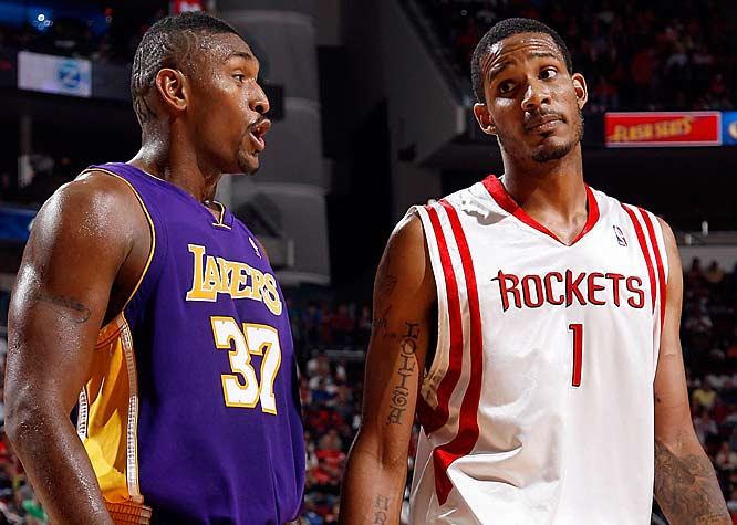 Sunday's Lakers-Rockets game produced one of the best players of the young season. As Trevor Ariza bent down to put his shoe back on after it came off, Artest grabbed it and threw it out of bounds. After the game, Kobe Bryant waved off reporters who wanted to talk to Artest about the peculiar play, telling them to get out of the locker room. A shoe toss hasn't caused this much controversy since a pair was thrown at President Bush.