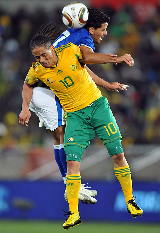 Qualified as: Host  Third World Cup appearance (last in 2002)  Player to watch: Steven Pienaar   Odds to win: 100 to 1