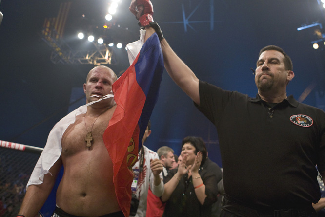 With the win, Fedor extended his record to 31-1 while Rogers took the first loss of his career.