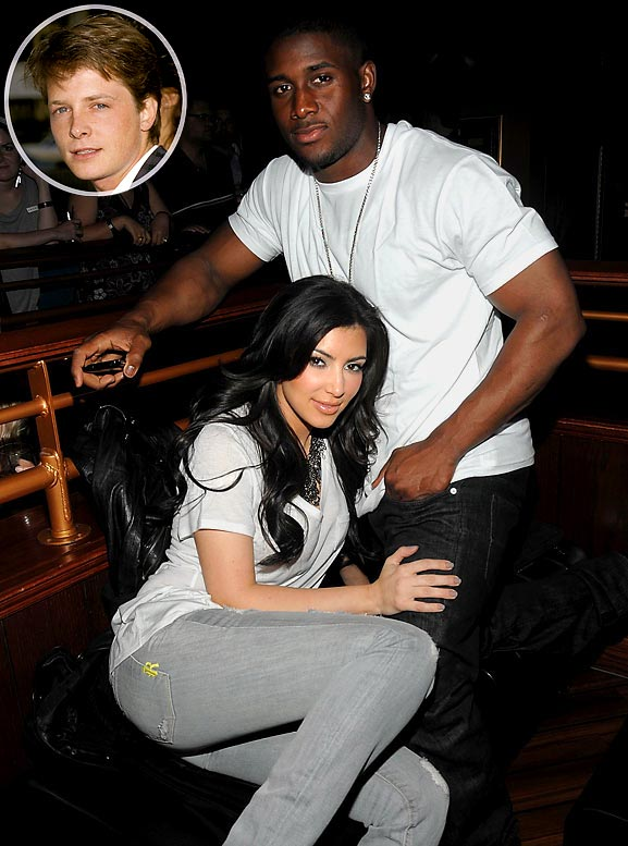 <i>How Reggie Bush and Kim Kardashian spend their time together:</i><br><br>''Watching Teen Wolf an old school classic! Lol! I swear Michael J Fox looks exactly the same like he doesn't age!''<br> (9:31 AM Nov 3)