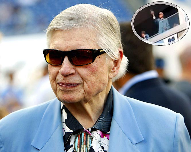 """The owner of the Tennessee Titans was fined $250,000 by the NFL for flipping Bills fans the bird during his team's 41-17 win over Buffalo in Nashville on Nov. 15. Adams later apologized, saying he """"got caught up in the excitement of a great day."""""""