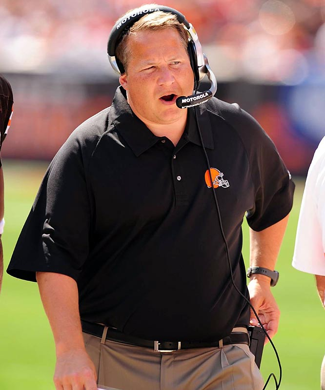 He's presided over a circus in Cleveland. His handpicked GM was dismissed as the Browns began the season 1-9. Mangini waffled about his starting quarterback and was accused by running back Jamal Lewis of exhausting the team with three-hour workouts. After a 38-37 loss to lowly Detroit, the beleaguered coach suggested the Lions might have faked injuries to slow his offensive juggernaut.