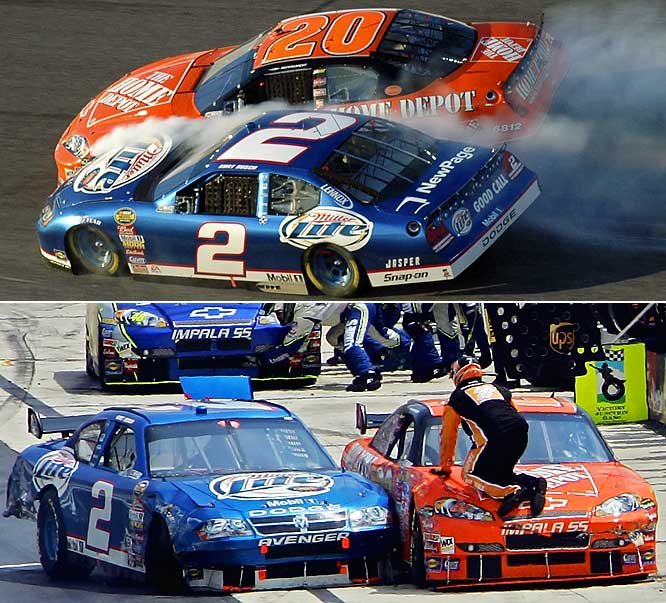 The two drivers with two of the biggest personalities in the sport frequently spar -- both verbally and on the track. They certainly don't make feuds like they used to in NASCAR, such as when the likes Donnie Allison and Cale Yarborough were trading blows at Daytona in '79. But word in the garage is that Stewart punched Busch after a practice session in the days before the 2008 Daytona 500, and their simmering dislike of each other makes this a feud to watch in coming years.