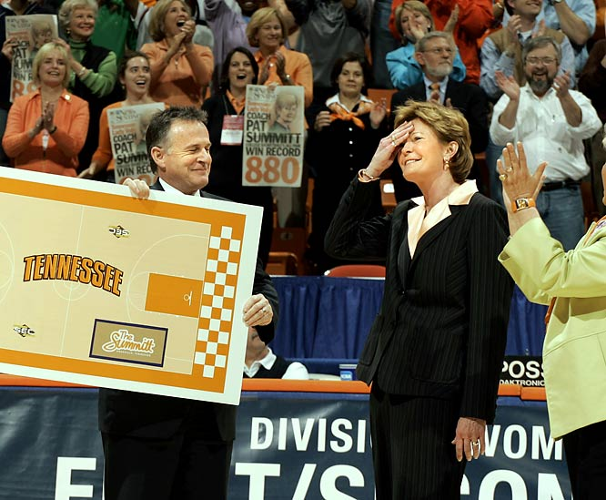 Here's a fun party trick: Ask your friends who is the winningest basketball coach in NCAA history. As they toss out names like Adolph Rupp, Bobby Knight and Dean Smith, scold them for instantly assuming it would be a man. Summitt passed Smith's record and just kept on winning; coming into this season, her 36th at Tennessee, she had an astounding 1,005 victories.