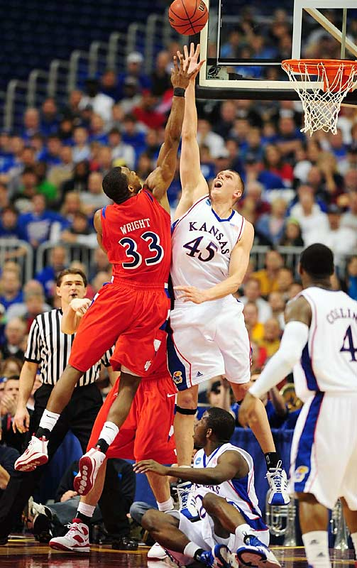 The Jayhawks held Dayton to just 43 points in a second-round win in the NCAA tournament, and the biggest reason was their 6-foot-11 center, who had 20 rebounds and 10 blocks (the most in the tournament this decade) to go with 13 points. Aldrich joined Dwyane Wade as the only players with triple-doubles in the Big Dance over the past 10 years.