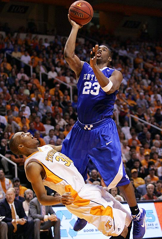 Jamal Mashburn never did it. Neither did Antoine Walker, Ron Mercer, Tayshaun Prince nor any other Kentucky legend. No Wildcat ever had a performance like that of Meeks, who lit up Tennessee for a school record 54 points in a 90-72 victory. It was the highest point total in a regulation game in the decade. Along the way, Meeks made 10 three-pointers -- another record -- and all 14 of his free throws.