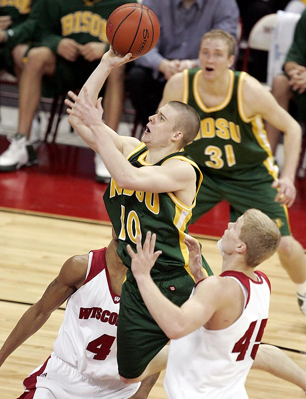 In the midst of a five-year NCAA reclassification from Division II to Division I, high-scoring guard Ben Woodside and the Bison snapped the Badgers' 27-game home non-conference winning streak and dropped Bo Ryan to 68-4 at home in his Wisconsin tenure. The Bison had more surprises in store: They beat then-No. 8 Marquette in Milwaukee a year later, and nearly knocked off defending champion Kansas as a No. 14 seed in the first round of the 2009 NCAA tournament.