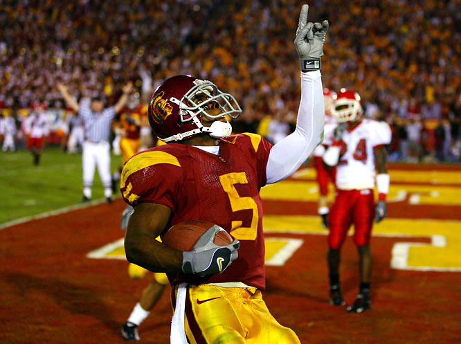 "Bush seemed to play his best when USC needed him most. A month after the ""Bush Push"" helped the Trojans beat Notre Dame, USC trailed Fresno State by eight at halftime. Bush put on a show in the third quarter, scoring two touchdowns to help USC build its lead. On the second touchdown, a 50-yarder, Bush blew the minds of everyone in the Coliseum with a juke along the left sideline that broke at least two of Newton's laws. The Trojans won 50-42, and Bush finished with 513 all-purpose yards."