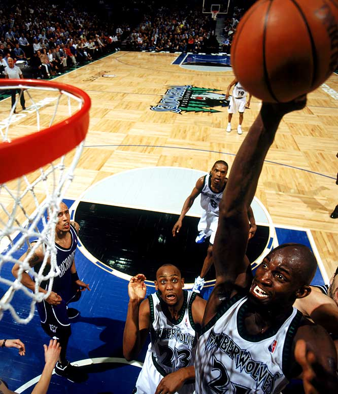 Garnett, on his 28th birthday, delivered 32 points, 21 rebounds, five blocks and four steals to send the Timberwolves past the Kings 83-80 in Game 7 of the Western Conference semifinals. KG not only led Minnesota to the conference finals for the first time in the franchise's 15-year history, but also, in scoring 13 consecutive Minnesota points in the fourth quarter, answered critics who questioned his ability to take over in crunch time.