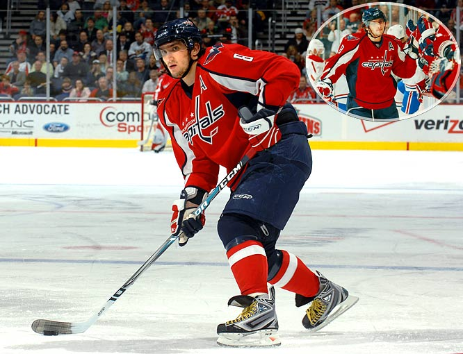 """Playing with a broken nose, courtesy of being sent into the boards by Montreal defenseman Francis Bouillon, and stitches in his lip, the Russian sniper equaled his career-highs of four goals, including the OT winner, and five points in a 5-4 victory over Montreal. """"We scored five, and he was in on all five,"""" Capitals coach Bruce Boudreau said. """"So how can you say enough about him? He's an amazing person."""""""