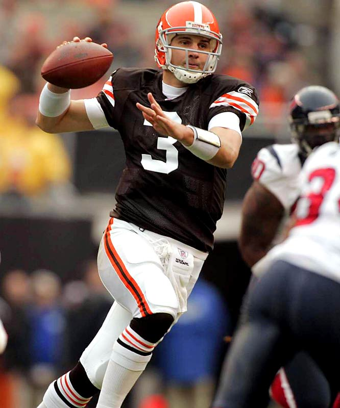 Just 26, the 2005 sixth-round pick still has time to prove his staying power. But based on his play the last two years (including a 2009 season in which he has completed 44.5 percent of his passes with three touchdowns and 10 interceptions in eight games), it looks increasingly likely that 2007 will stand as a career outlier. That's when Anderson threw 29 touchdown passes, made the Pro Bowl as an alternate and led the Browns to their first 10-win season since 1994.