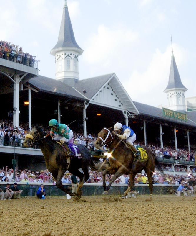 Giacomo had won once in seven lifetime starts and was 0-for-3 in 2005 before coming from off the pace to win the Kentucky Derby as a 50-to-1 shot, the second-biggest upset in race history. Giacomo slipped to third in the Preakness and seventh in the Belmont, and did little of consequence following that Triple Crown season.