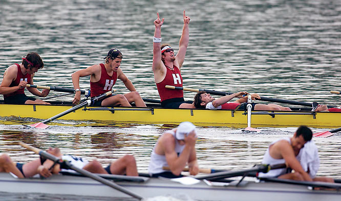 """This picture at the NCAA Rowing Championships displayed about all the feelings that an athletic event can capture, with sheer exhaustion perhaps the most dominant feeling of all."""