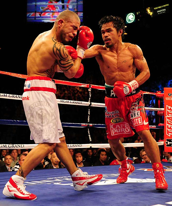 Is there any weight class Pacquiao is incapable of dominating? After destroying Ricky Hatton at junior welterweight, the Pac-Man jumped back up to welterweight and KO'd Miguel Cotto. With uncanny power and a granite chin, Pacquiao is the No. 1 fighter in boxing. <br><br>Runner-up: Andre Ward