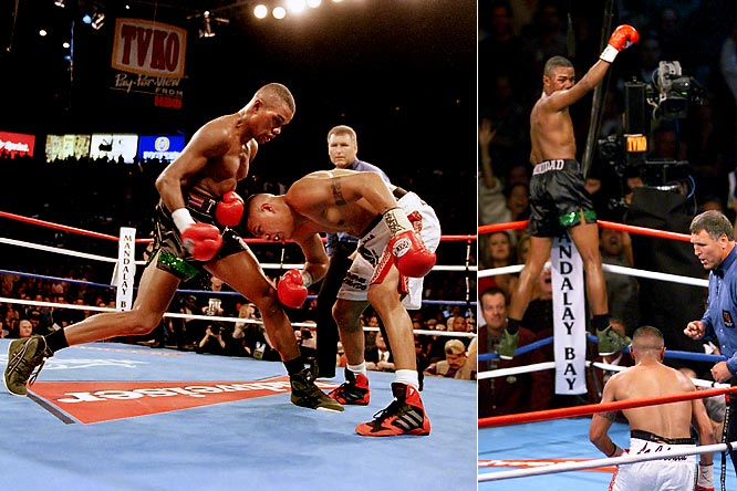 Fernando Vargas had never tasted the canvas throughout 20 professional fights, but went down no fewer than five times against Felix Trinidad, who consolidated power in the junior middleweight division with a TKO at 1:33 in the 12th round.