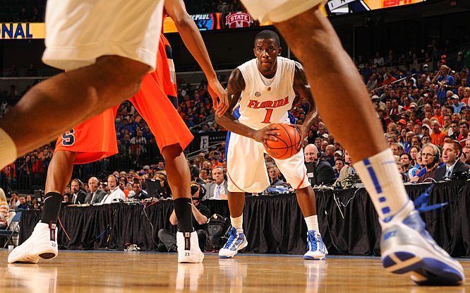 Kenny Boynton looks to make a pass against undefeated and seventh-ranked Syracuse in the SEC/Big East Invitational on Dec. 10 in Tampa. The 10th-ranked Gators lost 85-73.