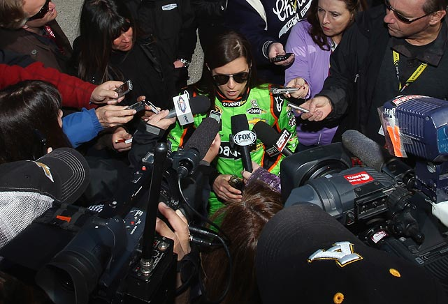 With an average of 196.434 mph, Danica won the pole position for the 2013 Daytona 500, becoming the first woman to secure the top spot for any race in NASCAR's premier circuit.