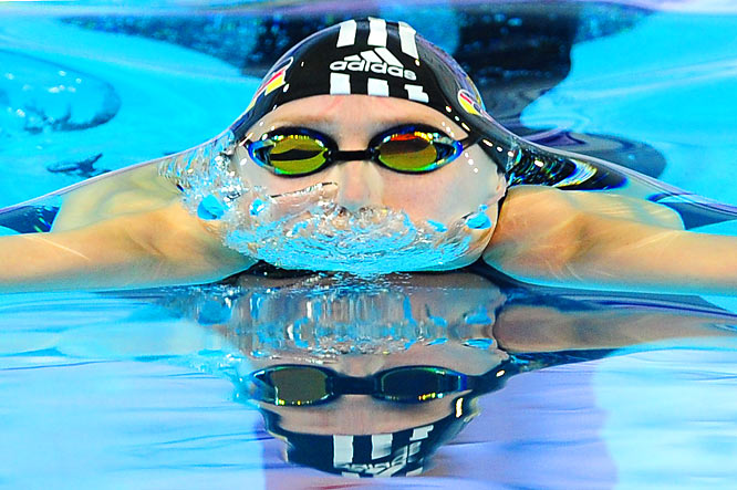 Janne Schaefer of Germany performs in the breaststroke at the European Short Course Swimming Championship in Istanbul on Dec. 10.